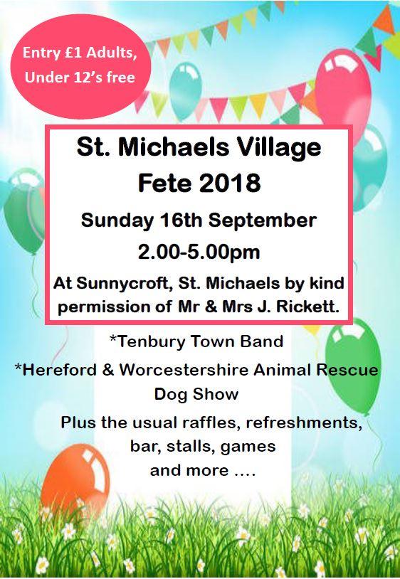 Village Fete 2018 – © 2019 St Michaels Village  St Michaels