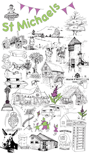 Village Tea Towel