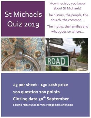St Michaels Quiz 2019